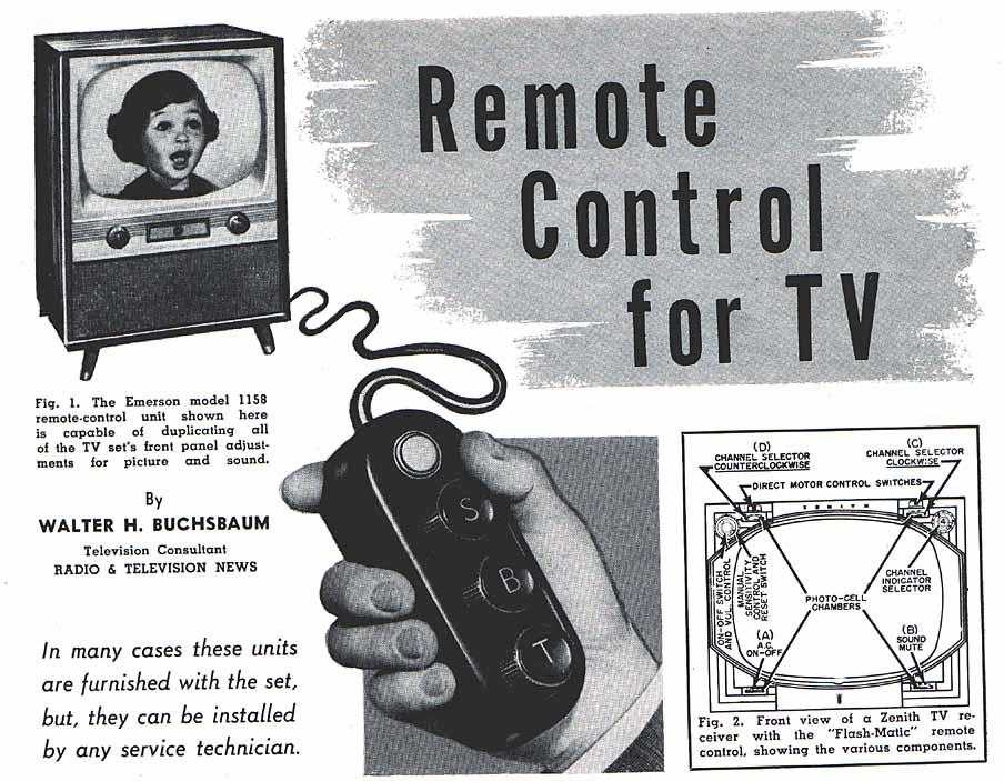TV Remote Control 1955